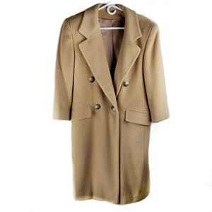 Saks Fifth Avenue Regal Camel Hair Coat VTG size 4